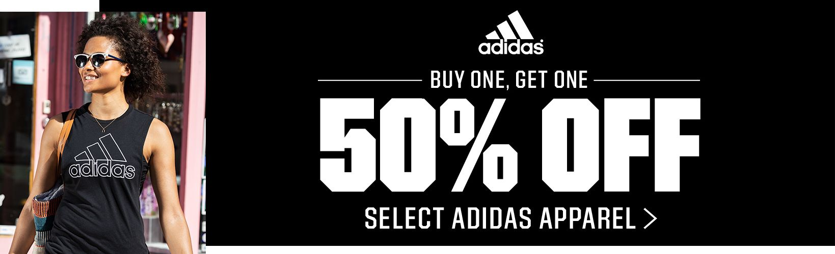 Buy One, Get One 50% off Select Adidas Apparel >