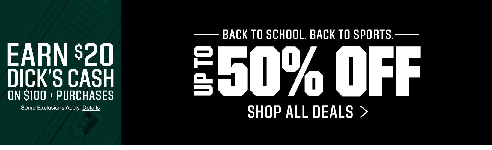 Back To School. Back to Sports. - Up to 50% Off – Shop All Deals