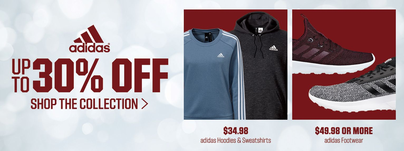 Up to 30% off Select adidas