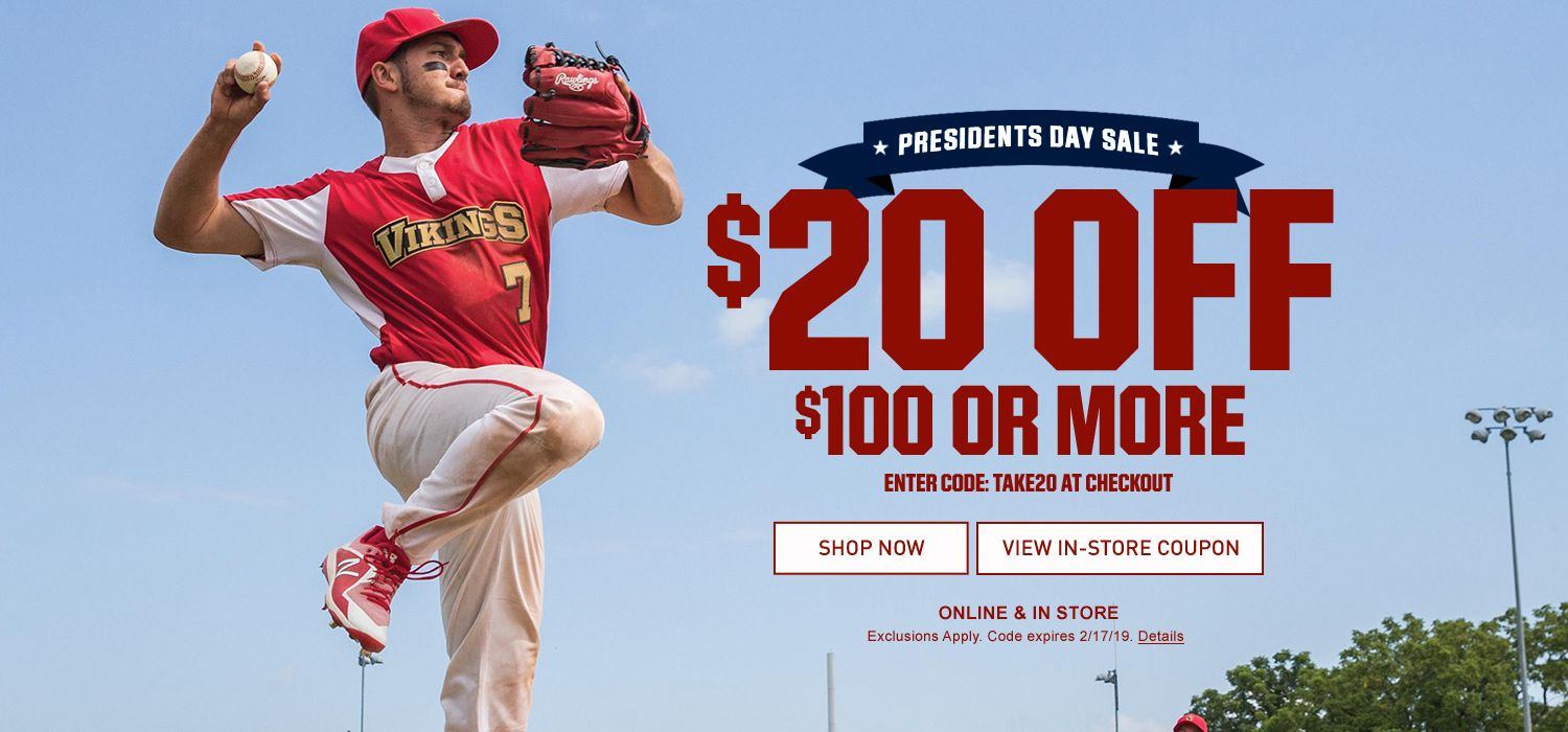 Presidents Day Sale - $20 Off $100 Or More - Enter Code: TAKE20