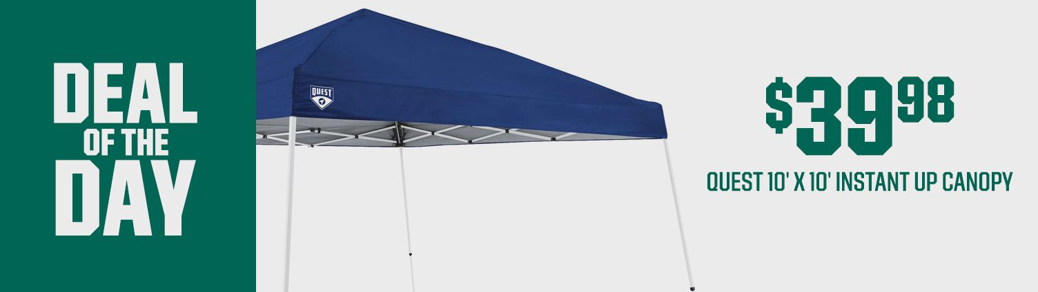 Deal Of the Day - $39.98 Quest 10' x 10' Instant Up Canopy