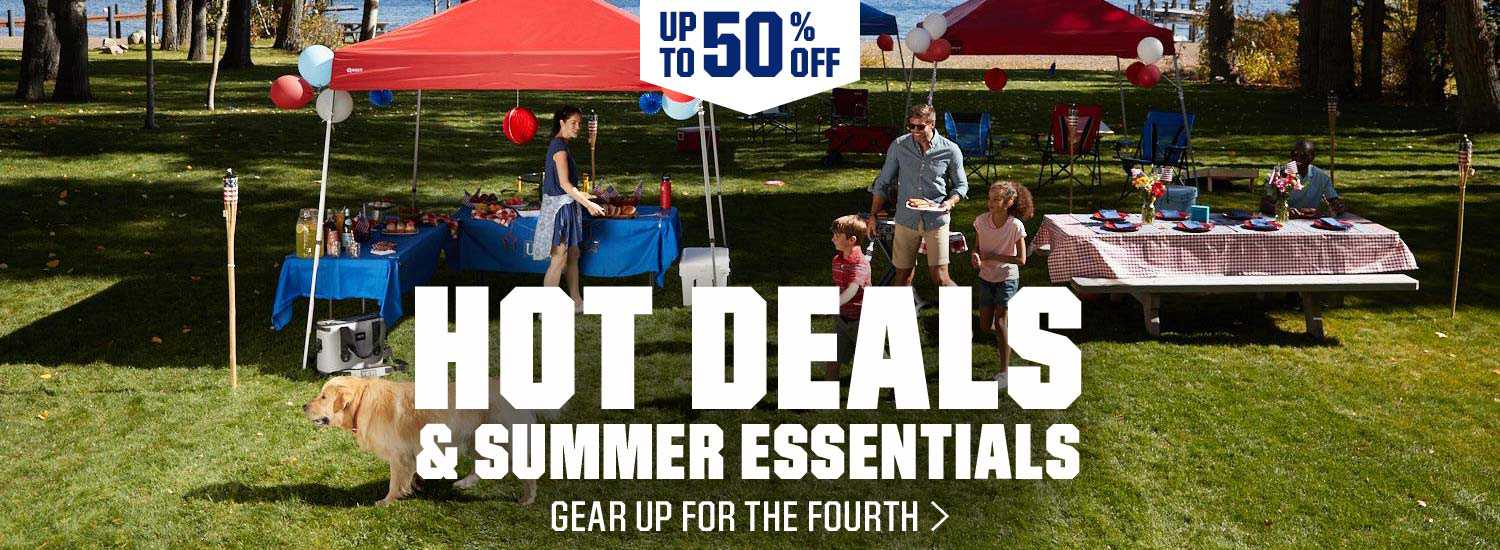 Up to 50% Off - Hot Deals & Summer Essentials - Gear up for the Fourth.