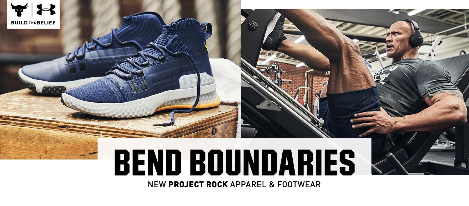 Bend Boundaries - New Project Rock Apparel & Footwear