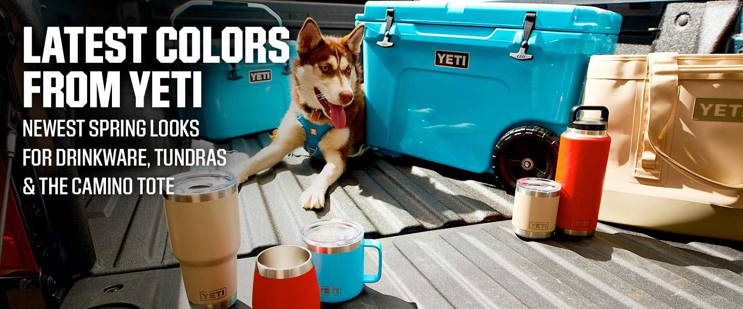 Latest Colors From Yeti - Newest Spring Looks For Drinkware, Tundras & The Camino Tote