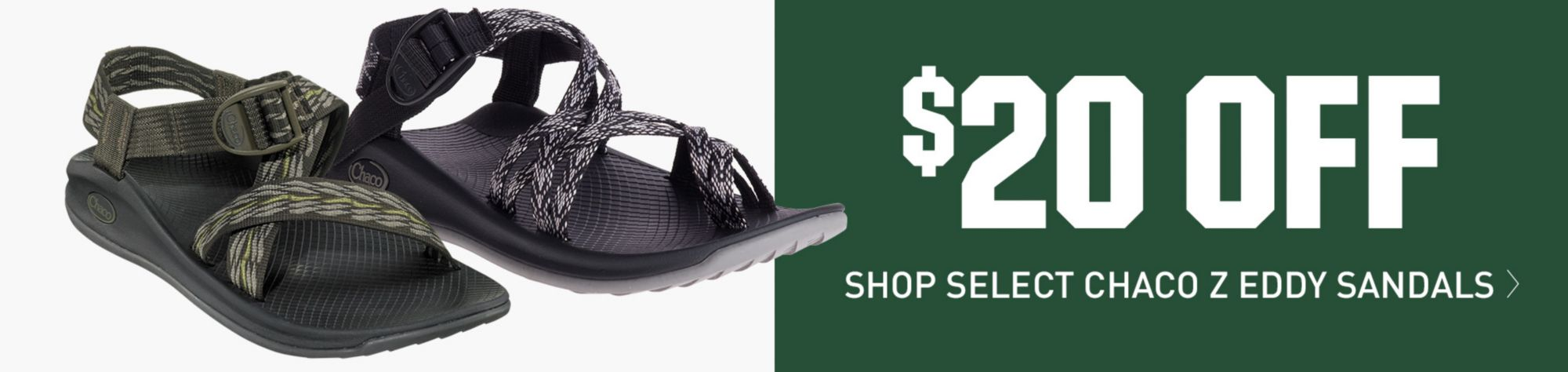 $20 Off Select Chaco Z Eddy Sandals - Shop Now