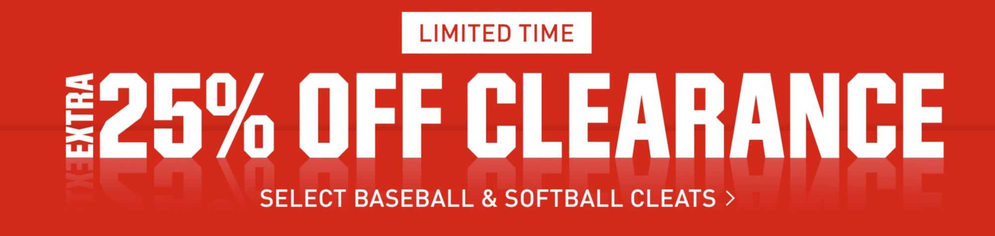 Take 25% Off Select Baseball & Softball Clearance