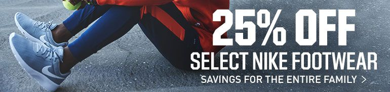 25% Off Select Nike Footwear - Savings for the Entire Family