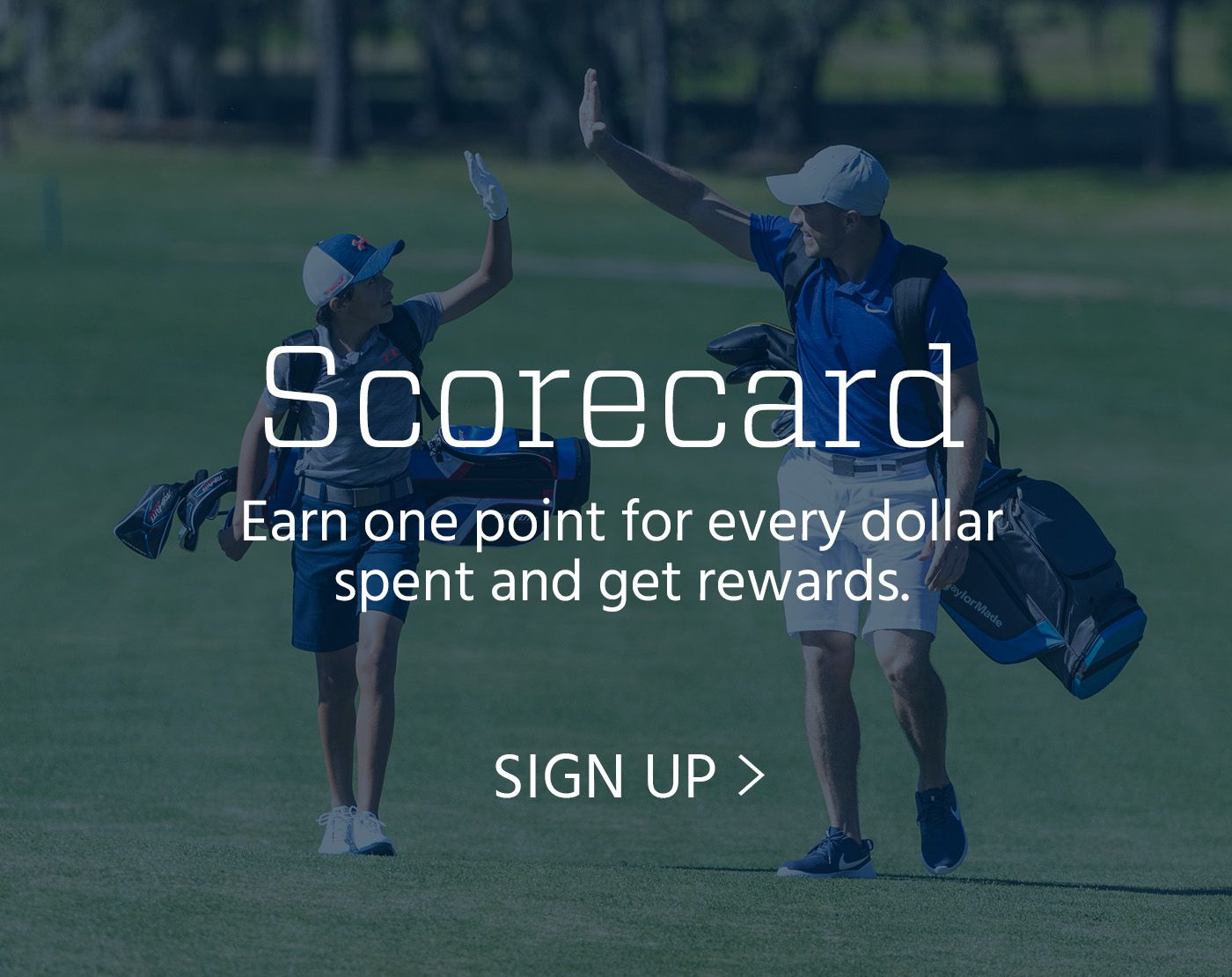 Earn one point for every dollar spend and get rewards - signup for scorecard now