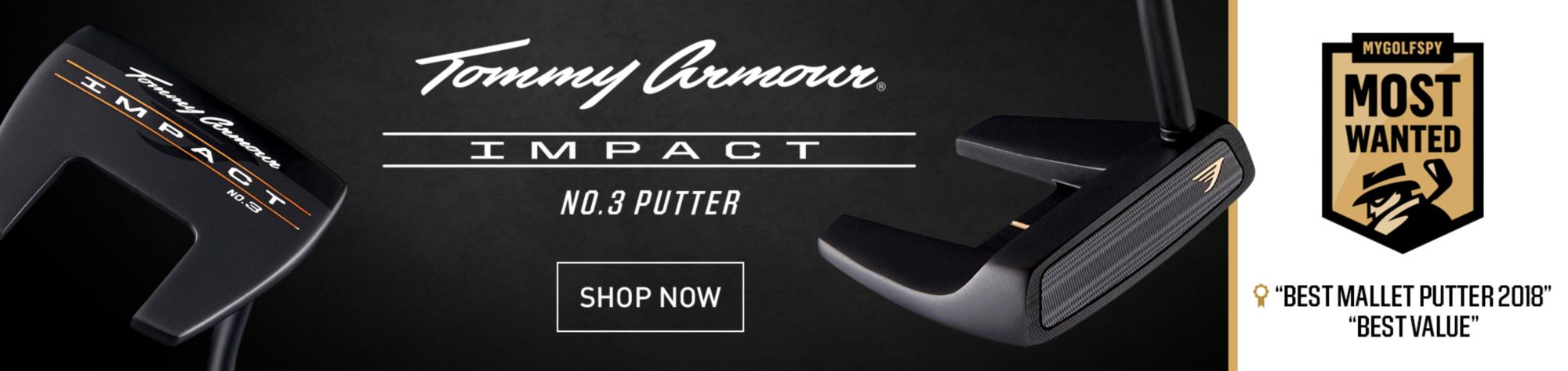 Tommy Armour Impact Series No. 3 Alignment Putter - Black Shaft - Shop Now
