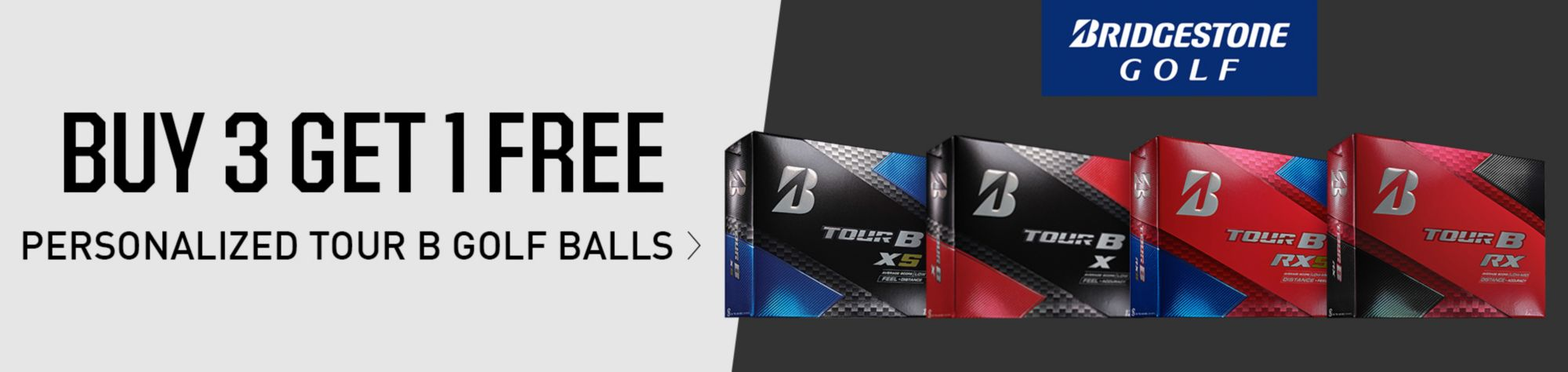 Buy 3 Get 1 Free Personalized Tour Golf Balls