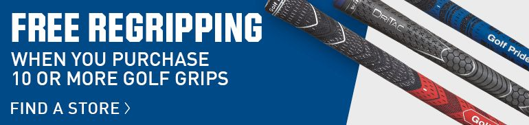 Free Regripping When You Purchase 10 Or More Golf Grips - Find A Store