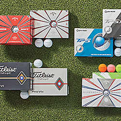Callaway, Titleist and TaylorMade Golf Balls