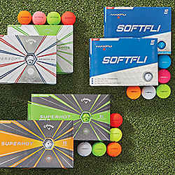 Callaway Supersoft and Maxfli Softfli Matte Golf Balls