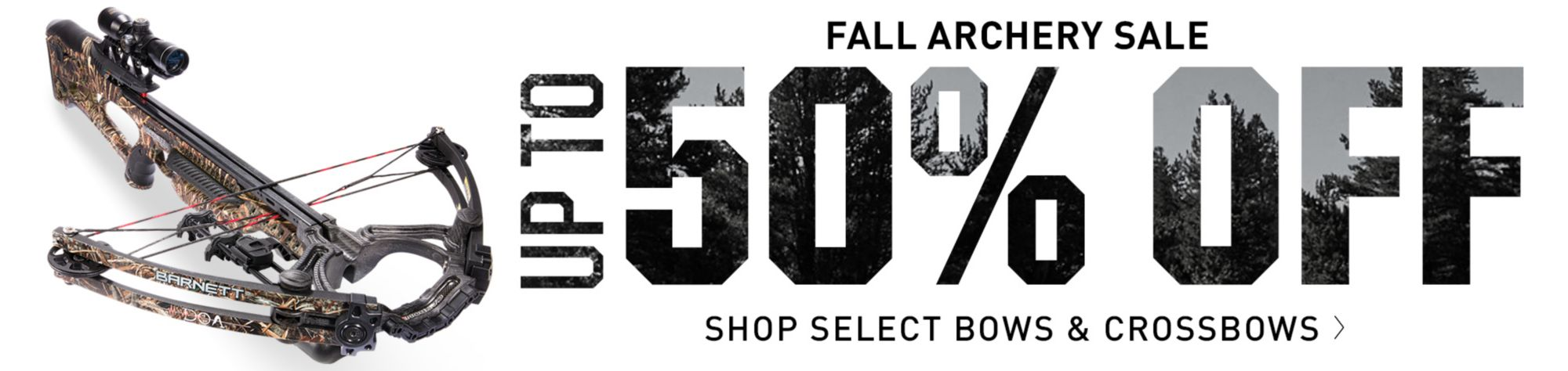 Up to 50% Off Select Bows & Crossbows