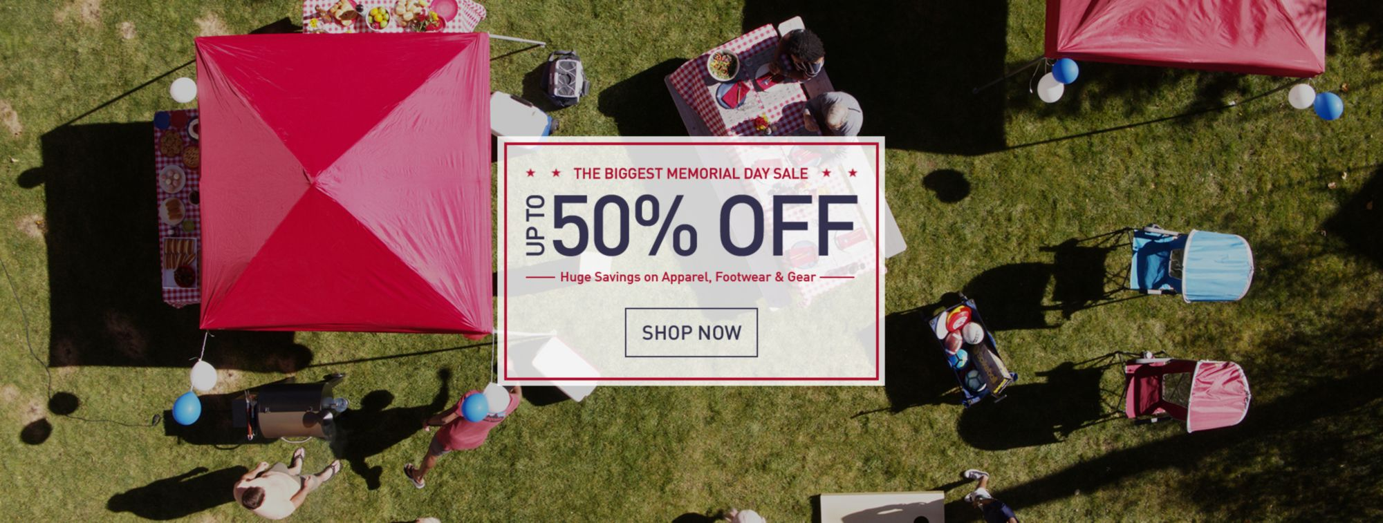 Up to 50% Off – The Biggest Memorial Day Sale