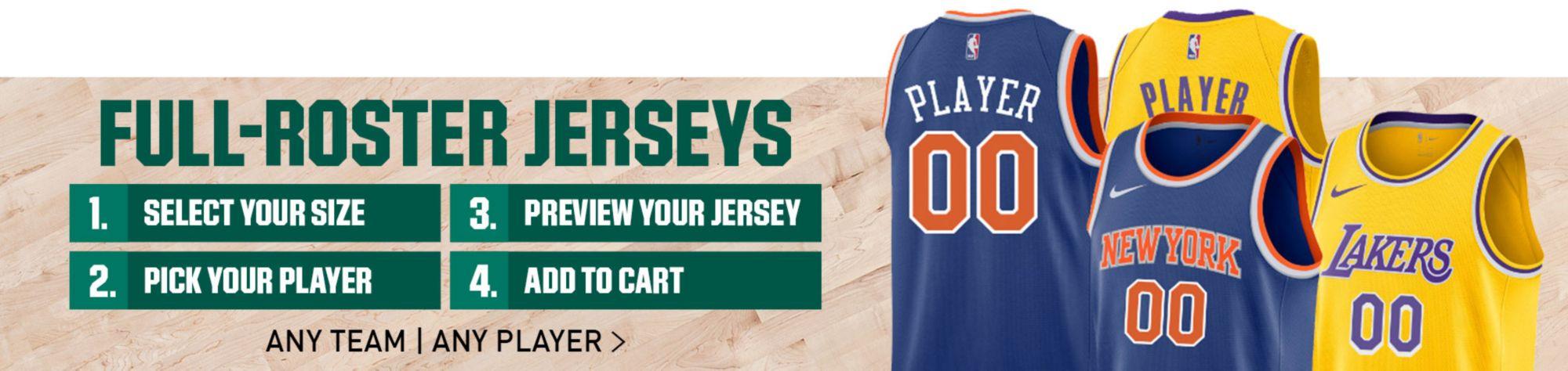 pretty nice c8f25 b990e Custom Basketball Jerseys   NBA Fan Shop at DICK'S