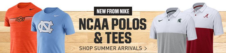 NEW FROM NIKE NCAA POLOS & TEES