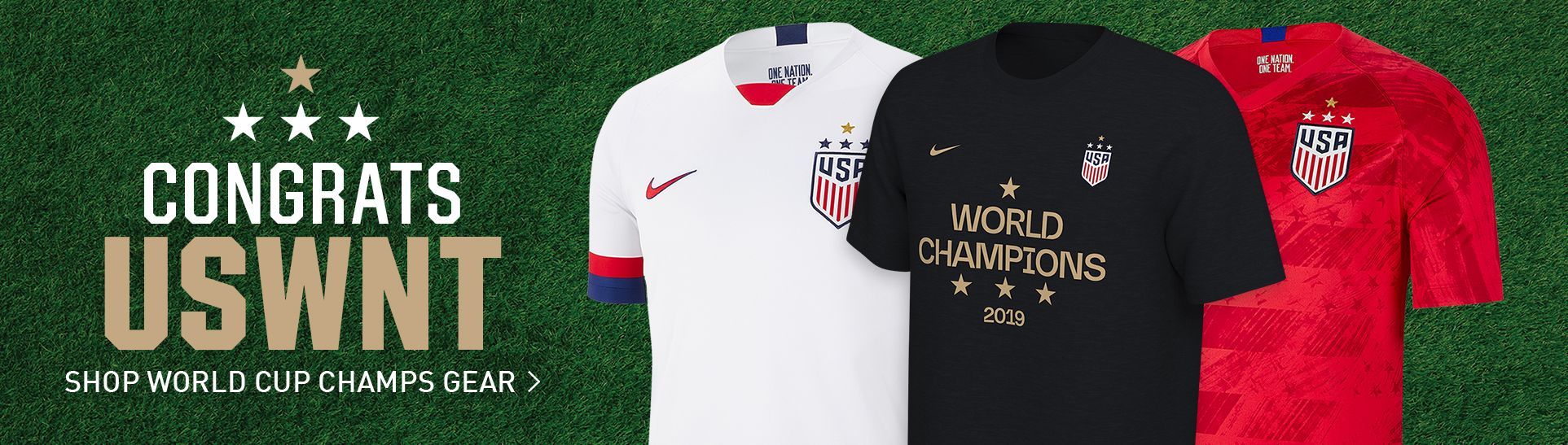 Congrats USWNT - Shop World Cup Champs Gear