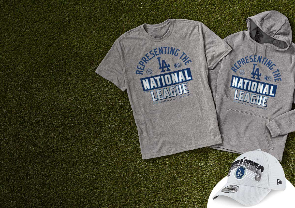 Image features Los Angeles League Champions gear.