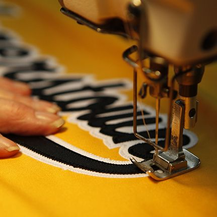 Picture of a uniform being created.