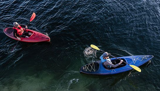 Kayak and Paddle