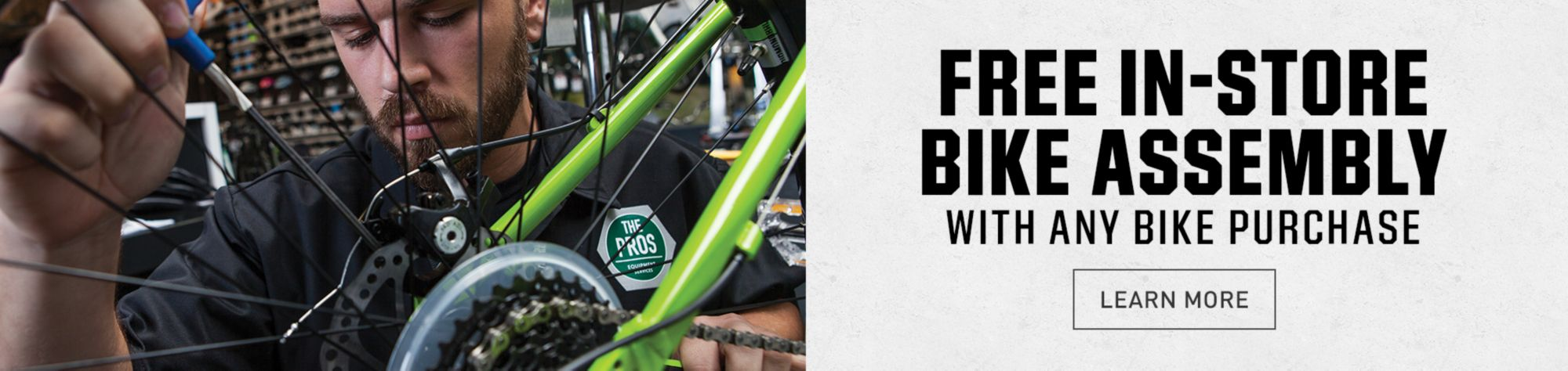 Free Bike Assembly In-Store With Any Bike Purchase - Learn More