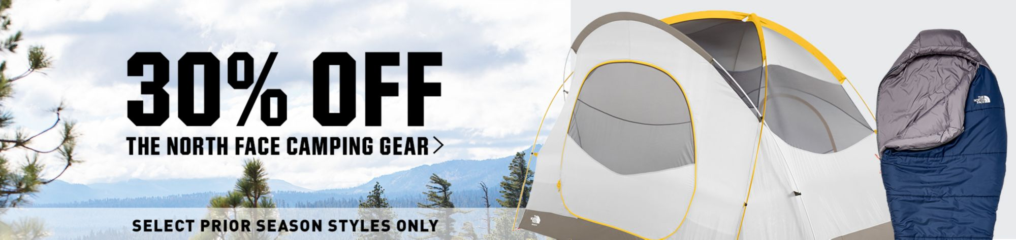 30% Off The North Face Camping Gear - Select Prior Season Styles Only