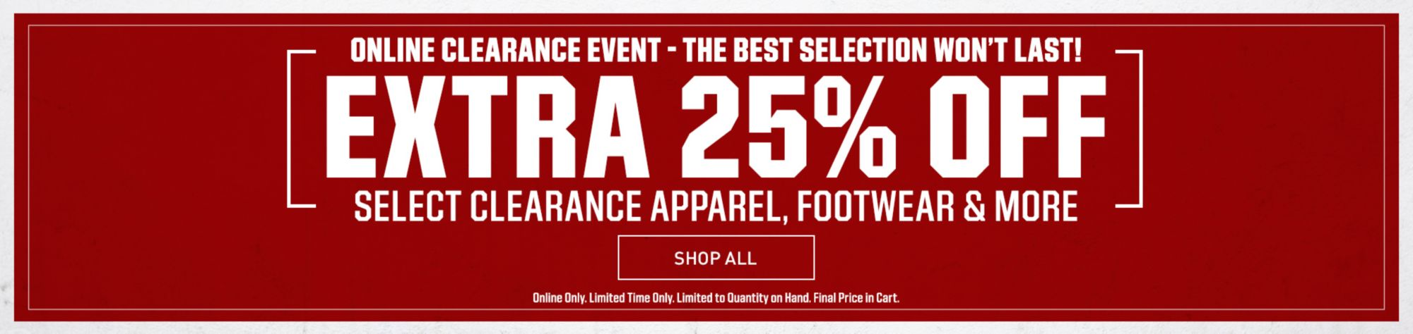 Extra 25% Off Select Styles