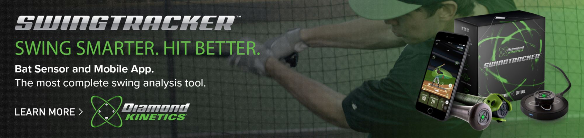 Swingtracker Swing Smarter. Hit Better. Bat Sensor and Mobile App. Diamond Kinetics