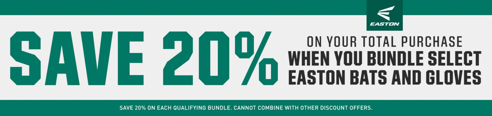 Save 20% On Your Total Purchase When You Bundle Select Easton Bats And Gloves