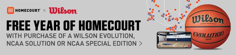 Free Year of Homecourt with Purchase of Wilson Evolution, NCAA Solution or NCAA Special Edition