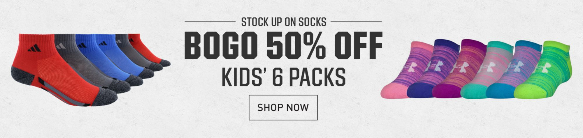 BOGO 50% Youth 6 Pack Socks