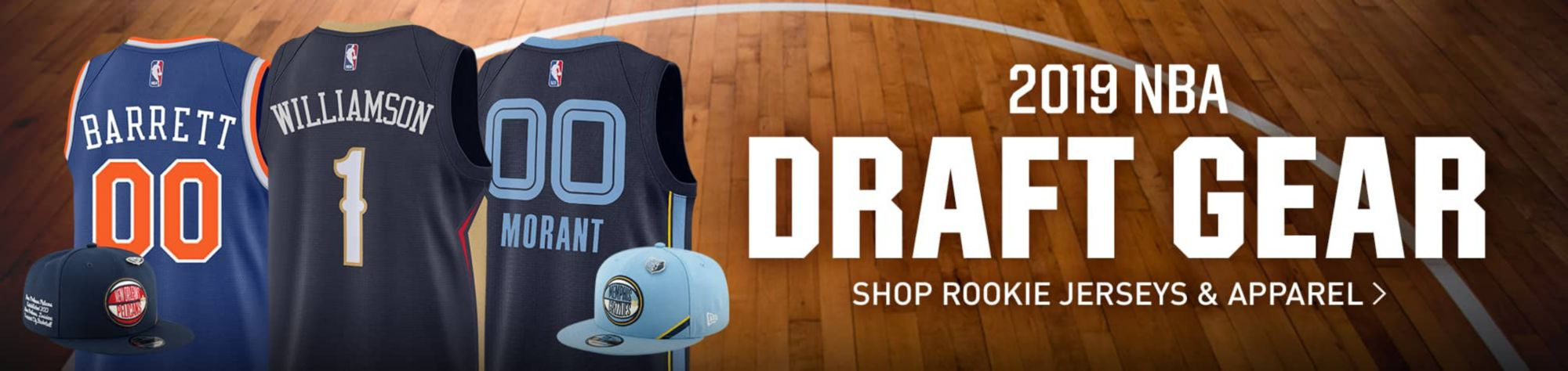 2019 NBA Draft Gear - Shop Rookie Jerseys and Apparel